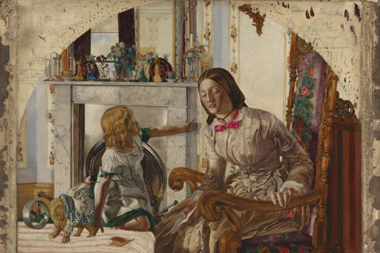 Mother and Child c.1854 by Frederic George Stephens 1828-1907